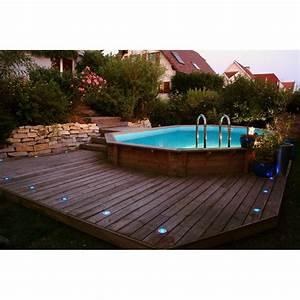 Sable Piscine Hors Sol : piscine bois sunwater ubbink 300x490cm h 120cm liner bleu sable ~ Farleysfitness.com Idées de Décoration