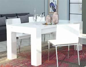 Table Blanc Laqué Extensible : javascript est d sactiv dans votre navigateur ~ Teatrodelosmanantiales.com Idées de Décoration