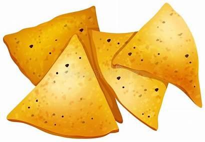Tortilla Chips Background Vector Chip Illustration Nachos