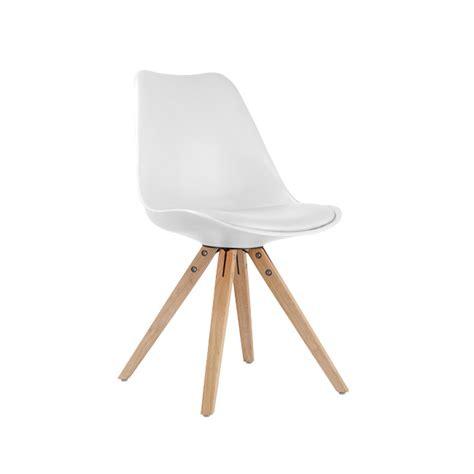 chaise blanche pas cher chaise blanche et bois pas cher idées de décoration