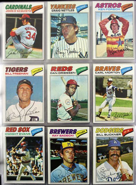 Baseball Trading Card Lot Detail 1977 Topps Baseball Trading Cards New