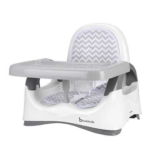 table d eveil avec siege réhausseur de chaise confort blanc et gris 5 sur allobébé