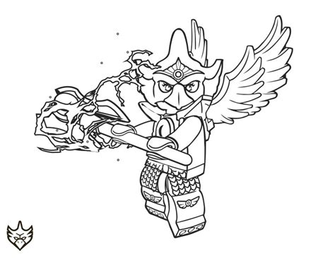 Free Lego Chima Mask Coloring Pages