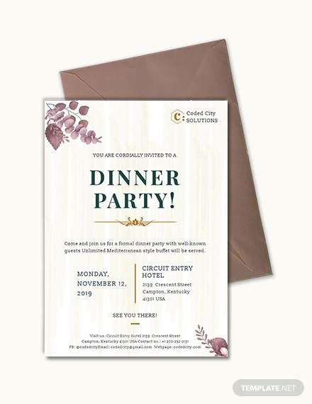 FREE 32+ Dinner Invitation Templates in PSD EPS MS