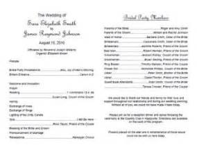 wedding program templates http webdesign14