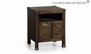 Table Bois Massif Design : table de chevet bois massif design industriel loft ~ Teatrodelosmanantiales.com Idées de Décoration