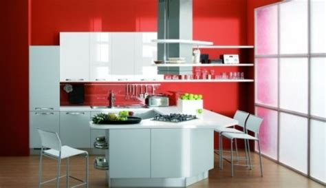 wine colored kitchen walls kırmızı duvar boyası ile beyaz lake kelebek mobilya mutfak 1545