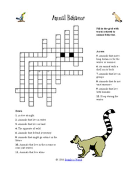 animal behavior 4th 5th grade worksheet lesson planet