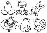 Pond Frog Coloring Pages Frogs Theme Animals Number Drawing Prek Froggy Goes Preschool Printable Worksheets Animal Math Activities Fun Count sketch template