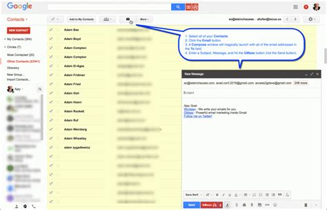 email gmail send contacts gmass listed keep process