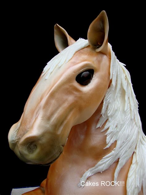 horse edible head structure krispy except sculpted treats rice support rest cakecentral cake