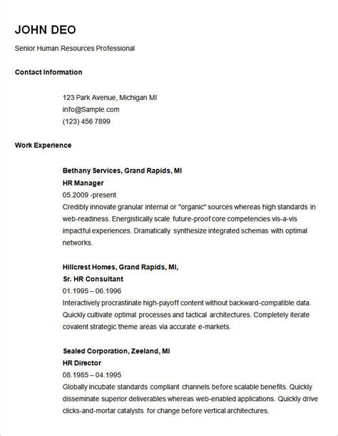 Simple Resume Template Free by 14 New Easiest Resume Template With Pics