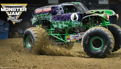 Grave Digger And El Toro Loco Are Popping Wheelies And