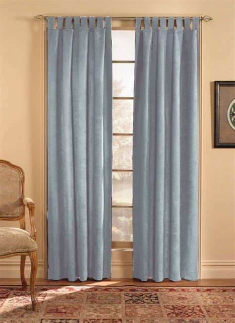 Tab Drapes - chf industries microsuede tab top curtain panel 50w by 84l