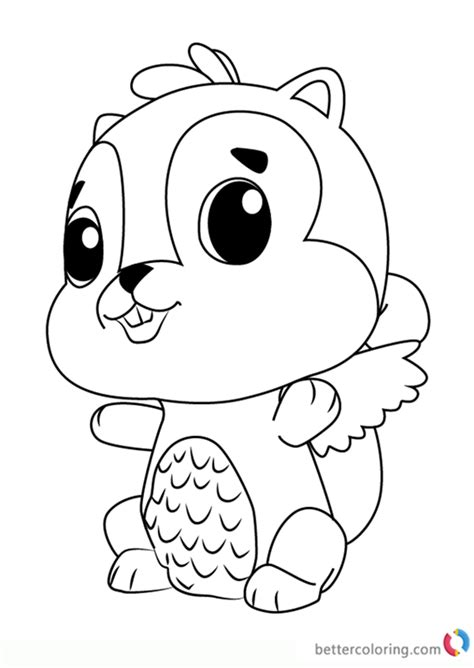 chipadee  hatchimals coloring pages  printable