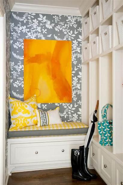 Mudroom Hgtv Gray Floral Tobi Contemporary Laundry