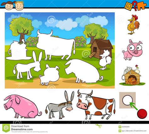 best educational cartoons for preschoolers matching task for preschoolers stock vector image 62095669 328