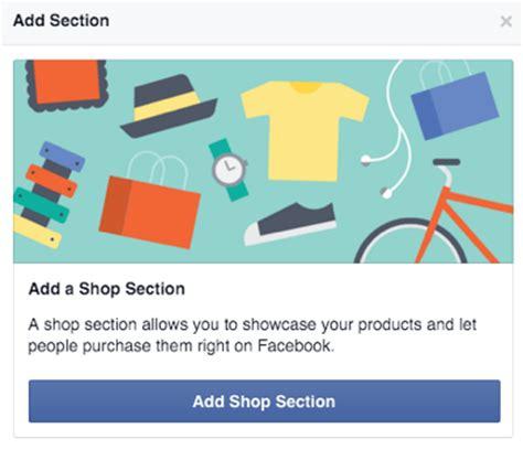 set   shop section   facebook page
