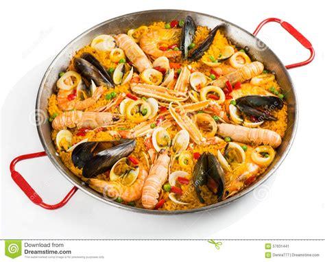 cuisine traditionnelle espagnole paella traditionnelle espagnole image stock image 57631441