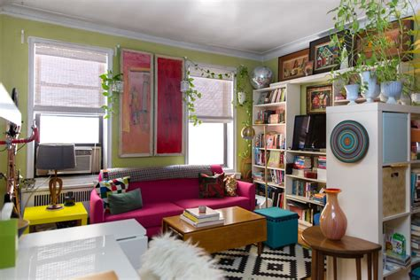 Tiny Masculine Apartment On A Budget by New York Studio Apartment Tour A Small Colorful Home