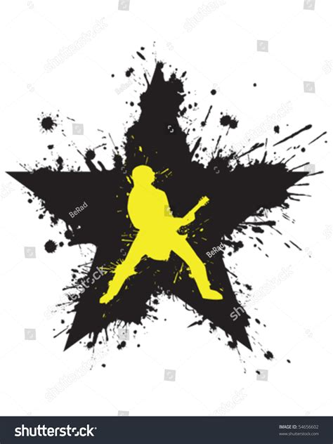 Rock Star Graffiti Stock Vector Illustration 54656602