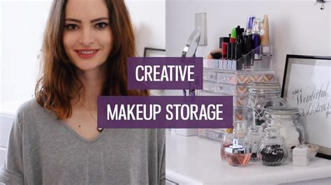 creative makeup storage ideas  small collections