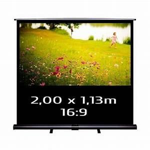 16 9 Format Berechnen : kimex ecran pull up projection transportable 200x113 format 16 9 ecran de projection ~ Themetempest.com Abrechnung