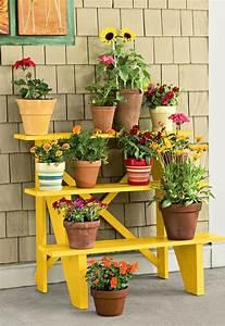 Blumenregal Selber Bauen : pflanzentreppe selber bauen blumentreppe aus holz oder metall als sch ne deko f r haus ~ Orissabook.com Haus und Dekorationen