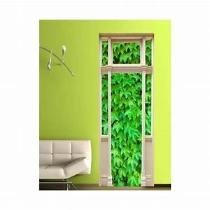 Mur Trompe L Oeil : stickers trompe l 39 oeil porte mur de lierre tatoutex stickers ~ Melissatoandfro.com Idées de Décoration
