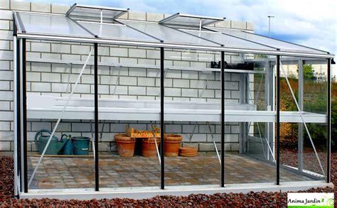 serre de jardin adossee au mur serre jardin adoss 233 e murale en verre tremp 233 aluminium 3 80m serre achat