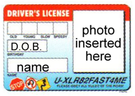teens drivers license photo cake frame ep