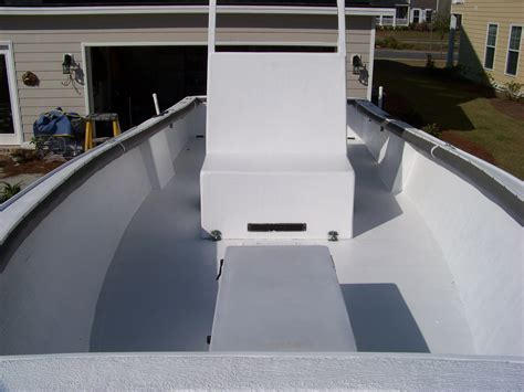 Boat Deck Epoxy Paint by Nidacore For Deck Replacement The Hull Boating