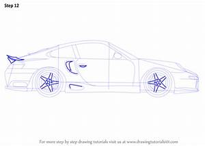 Learn How to Draw a Porsche Car Side View (Sports Cars ...