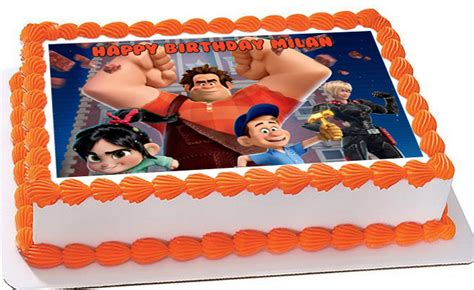 wreck it ralph cake toppers wreck it ralph edible birthday cake topper