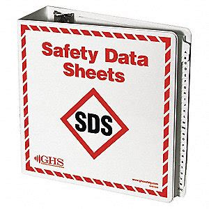ghs safety binder english includes a z dividers safety data sheets podium 1 1 2 quot depth