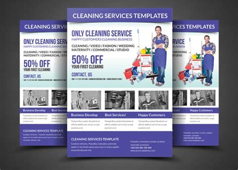 house cleaning flyer templates   sample