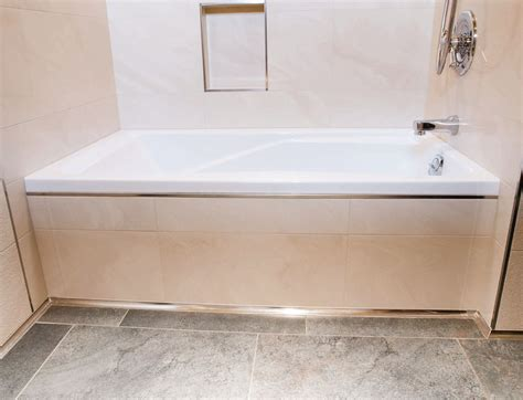 bathtub floor trim make a splash schluter ca 1509