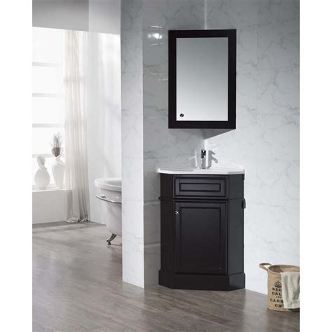 single corner bathroom vanity set  mirror wayfair