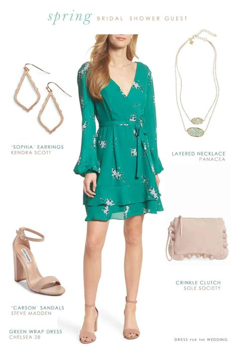 What Do I Wear To A Bridal Shower by What Should You Wear To A Bridal Shower As A Guest Green
