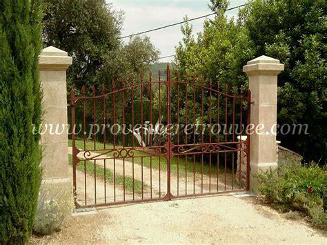 piliers en de taille portail d entr 233 e fer forg 233
