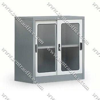 jual lemari arsip pintu sliding kaca type sdg 207 murah sentra office