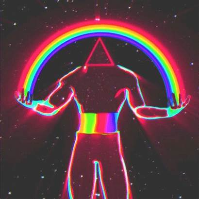 Aesthetic Rainbow Retro Vaporwave Trippy Giphy Psychedelic