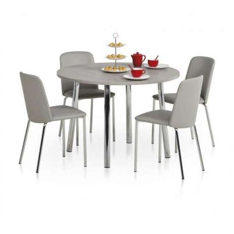 table ronde cuisine but table de cuisine ronde en stratifié elli 4 pieds