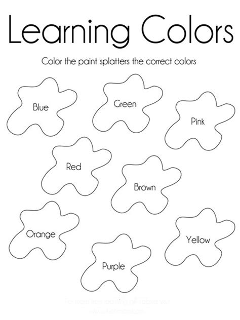 learning colors worksheets learning colors coloring pages and print
