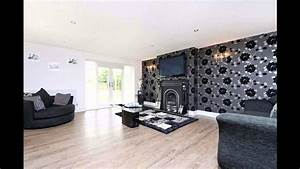 Fabulous Black wallpaper living room decorating ideas ...
