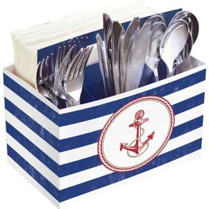 Striped Nautical Utensil Caddy 4 12in X 7 12in  Party City