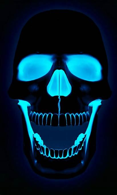 Flaming Neon Wallpapers Skulls Scary Iphone Skull