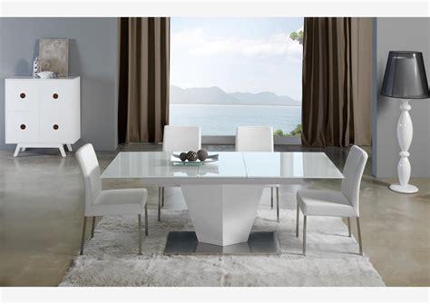 table de cuisine pied central table contemporaine pied central