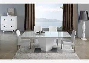 acheter votre table moderne pied central croix laquee With meuble salle À manger avec table salle a manger 80 cm de large