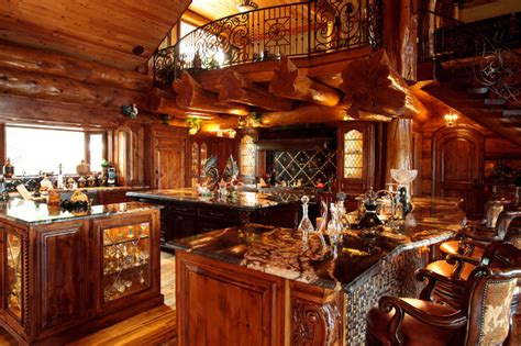 awesome log cabin rustic kitchen dallas by passion